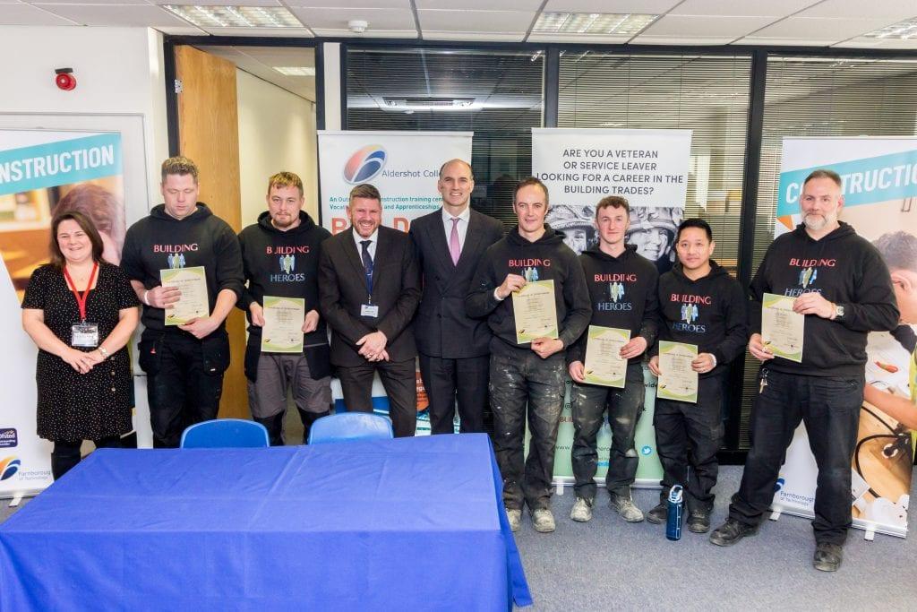 Local MP Awards Graduating Heroes - Farnborough College of