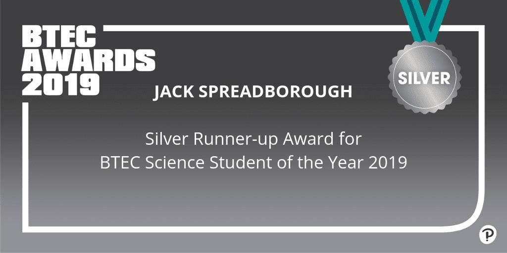 Silver Award for Sensational Science Student - Farnborough College
