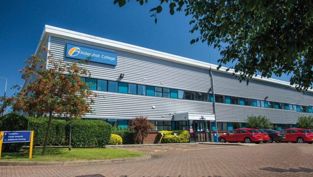 Front of Aldershot College